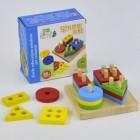 Деревянная игрушка Логическая пирамидка С 29408