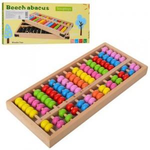 Деревянная игрушка Счеты MD 2113