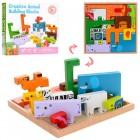 Деревянная игрушка Пазлы Животные MD 1162
