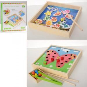 Деревянная игрушка Рыбалка 2в1 MD 2236