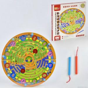 Деревянная игра Лабиринт на магнитах C 31324