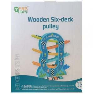 Деревянная игрушка Трек Wooden Six-desk pully