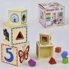 Деревянный куб-сортер С 29485