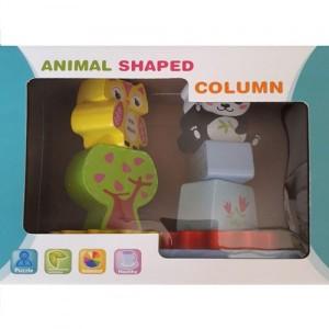 Деревянная игрушка Animal shaped column