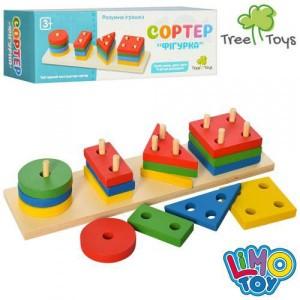 Деревянная игрушка Пирамидка MD 0715