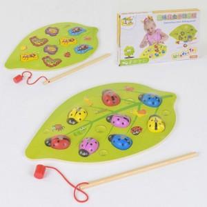 Деревянная игра Рыбалка магнитная С 37658