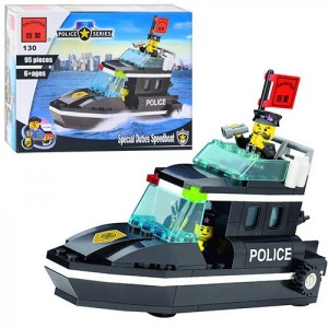 Конструктор BRICK Полицейский катер 130