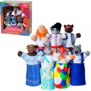 Кукольный театр ПАН КОЦЬКИЙ 7 персонажей + книжка B164