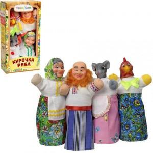 Домашний кукольный театр КУРОЧКА РЯБА 4 персонажа B067