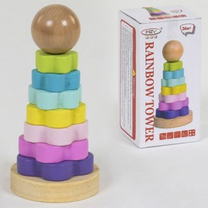 Деревянная игра Пирамидка С 39395