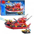 Конструктор BRICK Пожарная лодка с брандспойтом 906