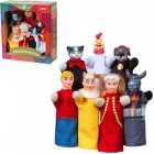 Кукольный театр БРЕМЕНСКИЕ МУЗЫКАНТЫ 7 персонажей + книжка B188