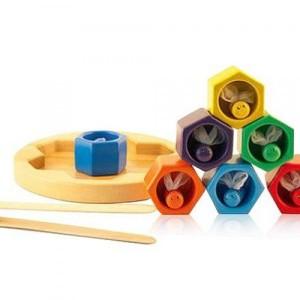 Деревянная игрушка сортер Пчелки в сотах 2305-49