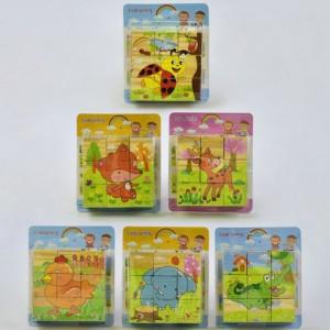 Кубики деревянные 9шт С 31528