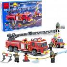 Конструктор BRICK Пожарная машина с выдвижной лестницей 908