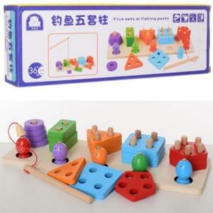 Деревянная игрушка Геометрика-рыбалка MD 2177