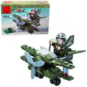 Конструктор BRICK Военный самолет 804