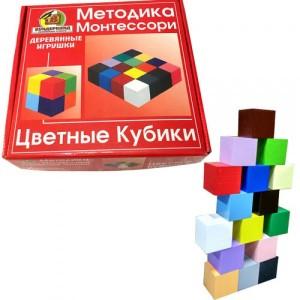Цветные кубики 16шт 4х4см К-006