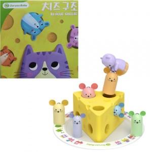 Магнитная деревянная игра Кошки мышки
