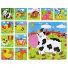 Деревянные пазлы Мир животных MD 0407