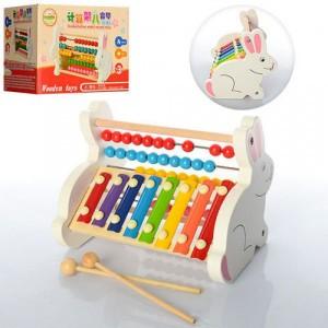Деревянная игрушка Счеты ксилофон 35857