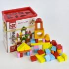 Конструктор деревянный Городок 50 деталей C 31373
