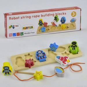 Деревянная шнуровка Роботы С 29455