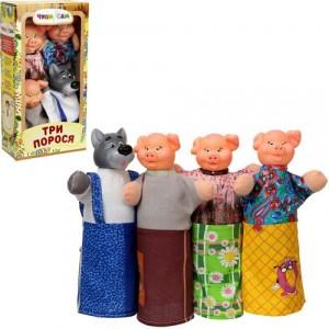 Домашний кукольный театр ТРИ ПОРОСЕНКА 4 персонажа B066