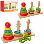 Деревянная игрушка Пирамидка-ключ MD 1321