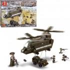Конструктор SLUBAN Транспортный вертолет и джип M38-B6600