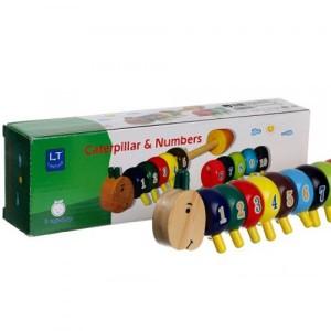 Деревянная игрушка Гусеница 5500