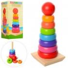 Деревянная игрушка Пирамидка MD 1215