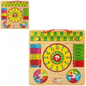 Деревянная игрушка Часы MD 0004