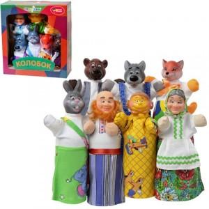 Кукольный театр КОЛОБОК 7 персонажей + книжка B065