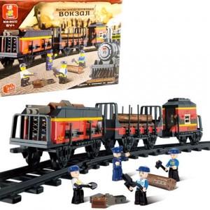 Конструктор SLUBAN Железнодорожный вокзал M38-B0232