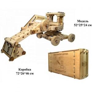 Конструктор из дерева ЭКСКАВАТОР 01-104