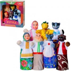 Кукольный театр РЕПКА 7 персонажей + книжка B152