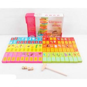 Настольная игра Jenga цветная 691-50