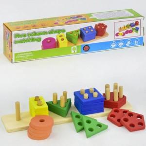 Деревянная логическая игра Геометрика C 30323
