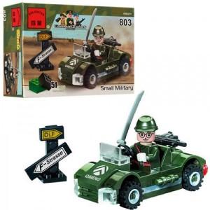 Конструктор BRICK Военная машинка 803