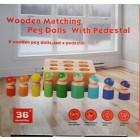 Деревянная игрушка Matching peg dolls with pedestal