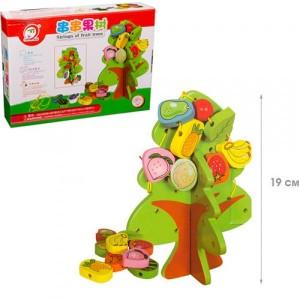 Деревянная игрушка Фрукты шуровка 104