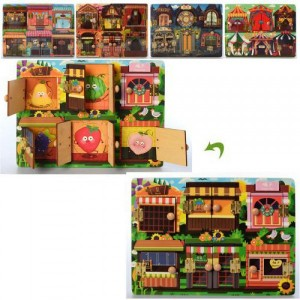 Деревянная игрушка Пазлы MD 2576