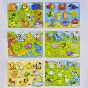 Деревянная игра Рамка-вкладыш С 35964