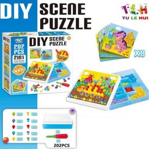 Болтовая мозаика Scene Puzzle TLH-20