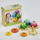 Деревянная игрушка Логическая пирамидка С 29544