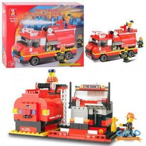 Конструктор SLUBAN Пожарные спасатели M38-B0220