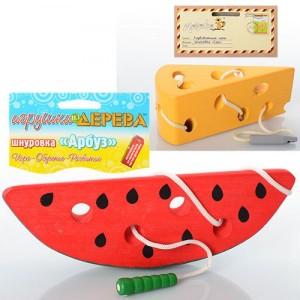 Деревянная игрушка Шнуровка MD 0494