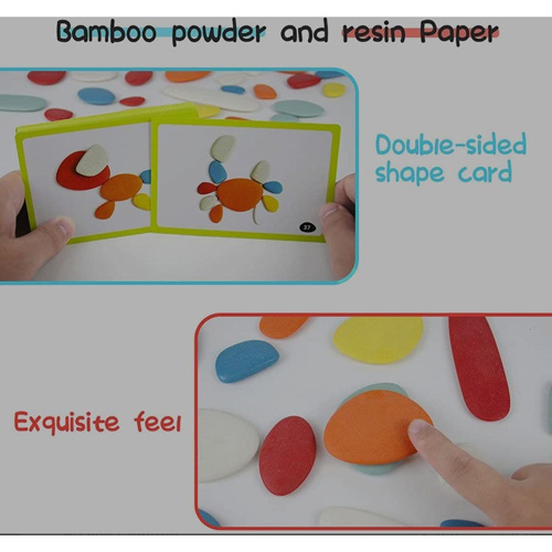 Деревянная игрушка Buy Voohek Stone Balancing Blocks Toy with 24 Puzzle Cards 2305-89