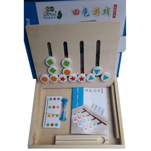 Деревянная игрушка Монтессори Four-color